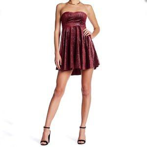 Free people Shattered velvet mini dress strapless
